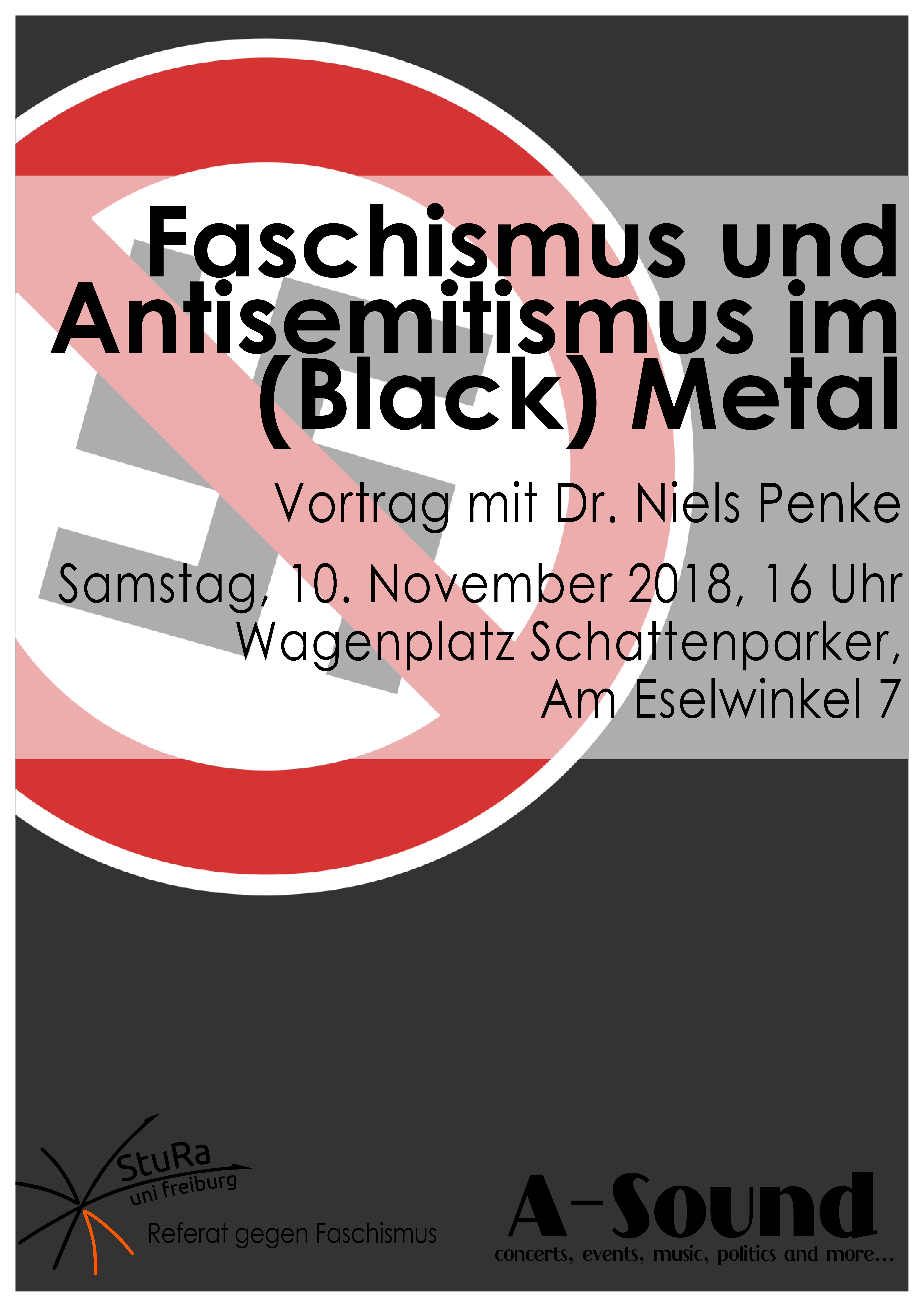 Faschismus und Antisemitismus im (Black) Metal - Plakat - Webversion