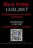 Große Kundgebung gegen Studiengebühren in Stuttgart